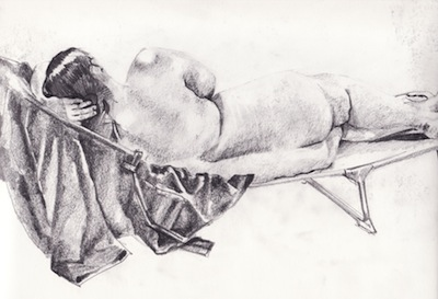 life drawing done at lydiate, liverpool, merseyside