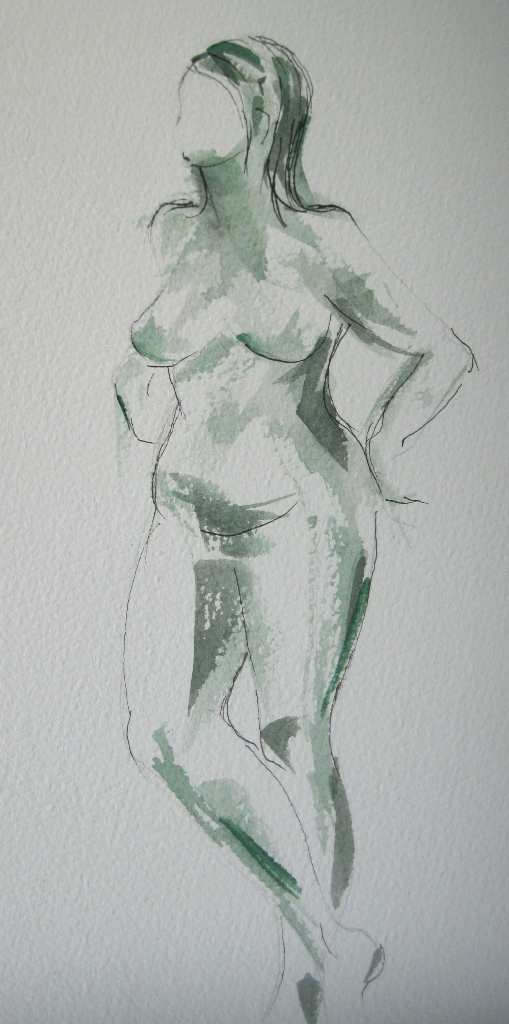 life drawing class, near me, this study of the nude figure, done in pencil at the life class in lydiate, liverpool, merseyside