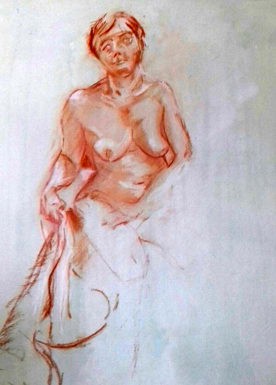 life study, done in the life class at lydiate, formby, liverpool, southport, classes near me