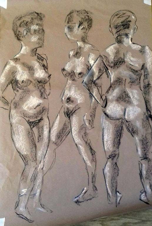 quick life studies done in the life classes, liverpool, southport, merseyside
